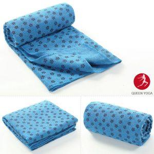 Khăn trải thảm Yoga màu xanh