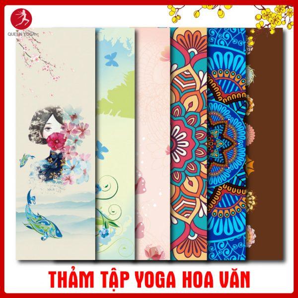 Thảm tập Yoga TPE hoa văn