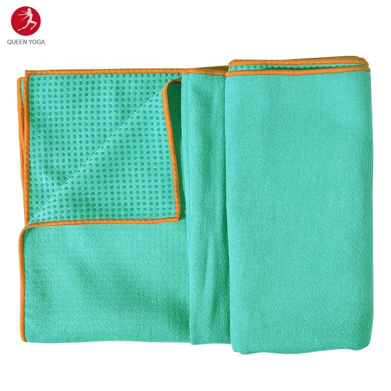 Khăn trải thảm Yoga cao cấp Yogitose phủ Silicon màu thông xanh