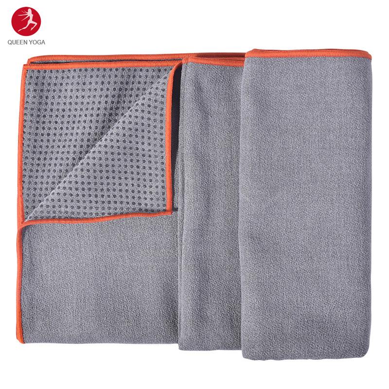 Khăn trải thảm yoga cao cấp Yogitose phủ silicon màu Xám đậm 9c