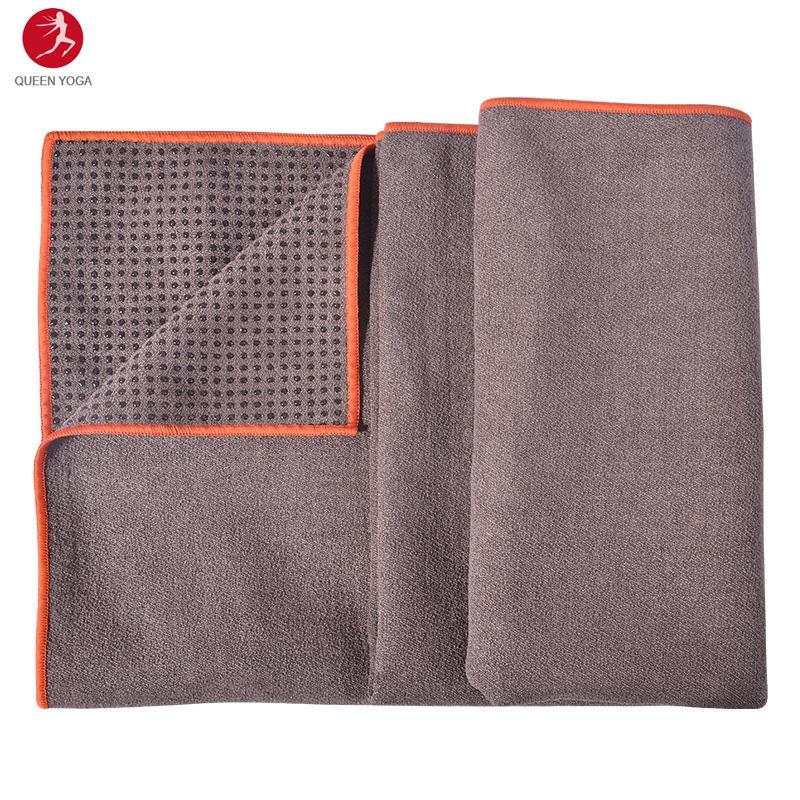 Khăn trải thảm yoga cao cấp Yogitose phủ silicon màu NÂU