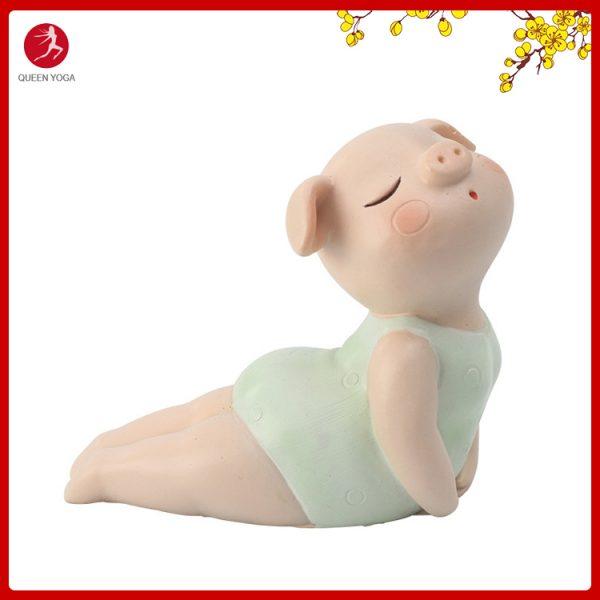 Tượng Heo Yoga trang trí