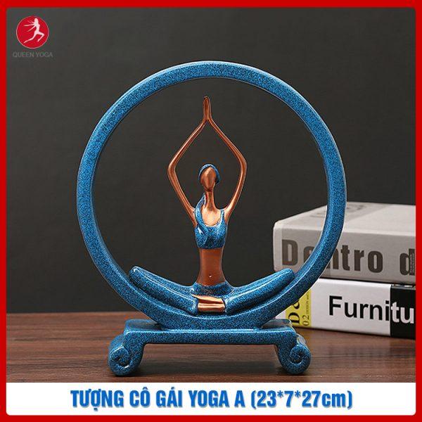 Tượng cô gái Yoga