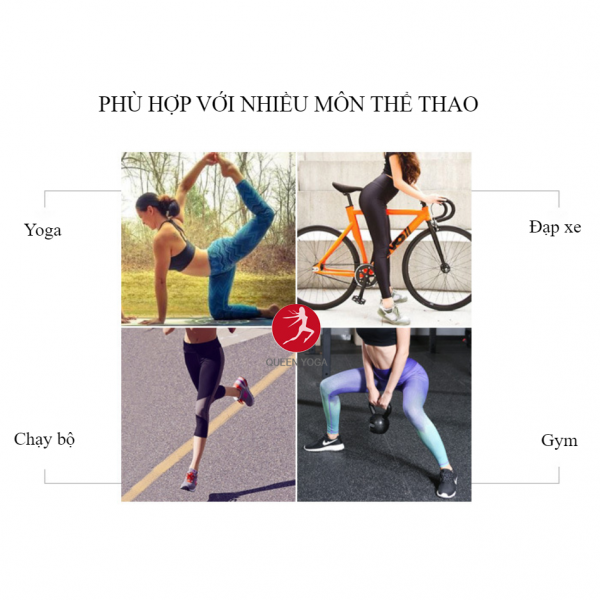 Quần Tập Yoga Cao Cấp HK34 Hoa Đen